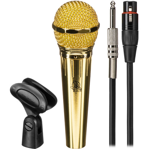 VocoPro MK-58 PRO Wired Karaoke Microphone with Cable (Gold)