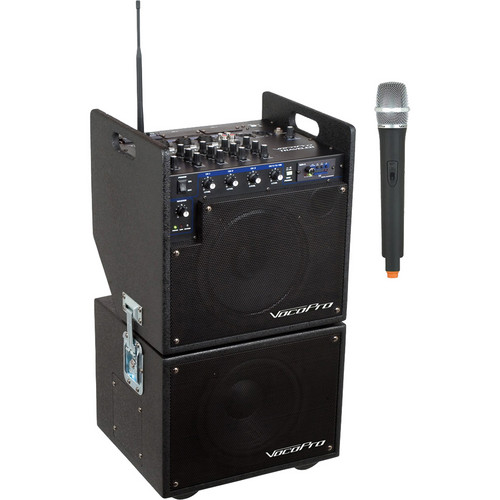 VocoPro MOBILEMAN 1 Battery-Powered PA System with Subwoofer