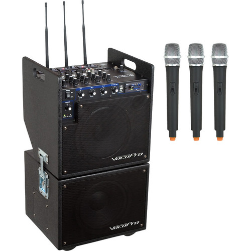VocoPro MOBILEMAN 2 Battery-Powered PA System with Subwoofer