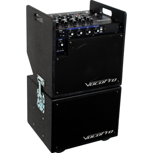 VocoPro MOBILEMANBT Battery-Powered PA System with Subwoofer and Bluetooth Receiver Module