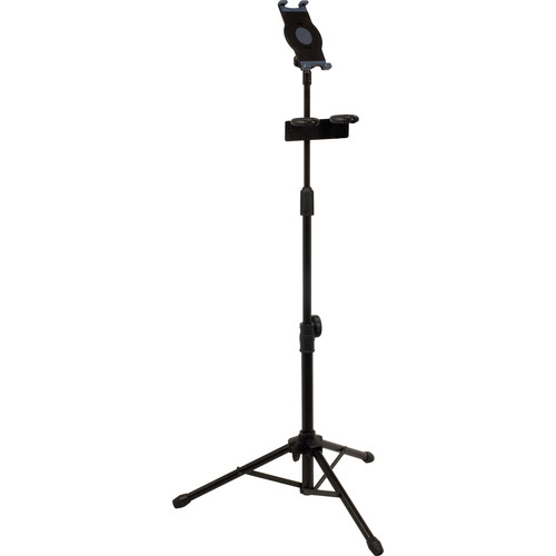 VocoPro MS-UT Universal Tablet Tripod Stand with Dual Microphone Holder