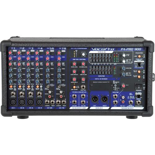 VocoPro PA-PRO 900 900W Professional PA Mixer