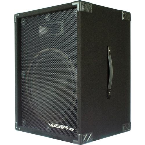 """VocoPro PV-1800 15"""" 400W 2-Way Active Speaker with Built-In Digital Echo Mixer"""
