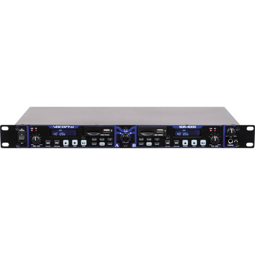 VocoPro SDR-4000 Dual Digital USB / SD Audio Recorder & Player