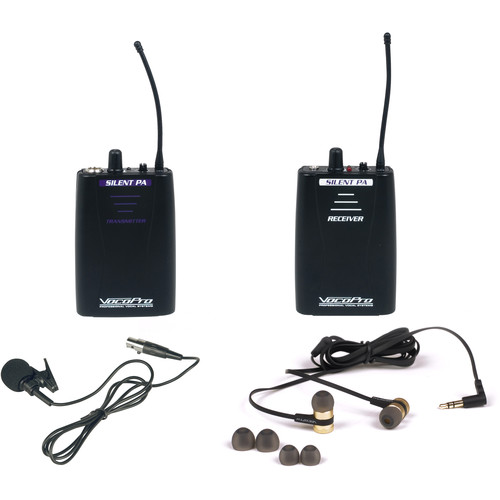 VocoPro Professional PLL Wireless In-Ear Monitor Package with Transmitter & Receiver