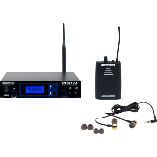 VocoPro Professional PLL Wireless In-Ear Monitor Package with Stationary Transmitter and Receiver