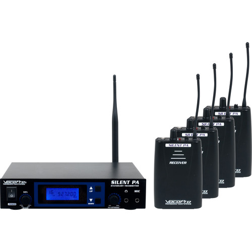VocoPro SilentPA-PRACTICE 16-Channel UHF Wireless Audio Broadcast System with Stationary Transmitter