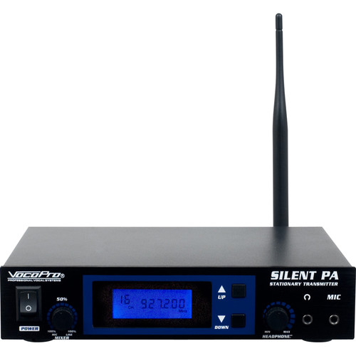 VocoPro SilentPA-ST16-Channel UHF Wireless Audio Broadcast System Stationary Transmitter