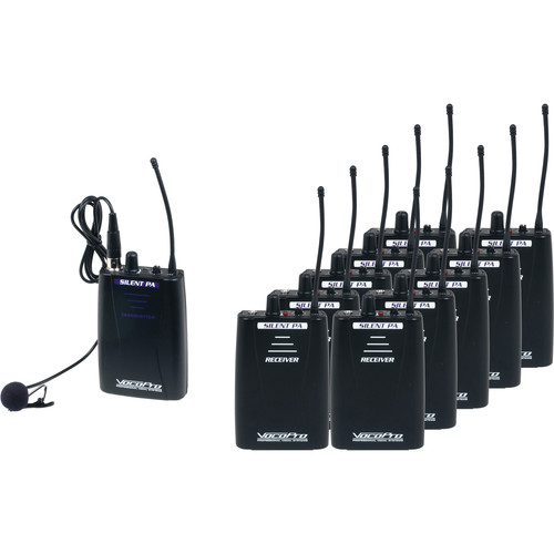 VocoPro SilentPA-Tour10 - Portable 16-Channel Wireless Listening System (Bodypack Transmitter, 10 Users)