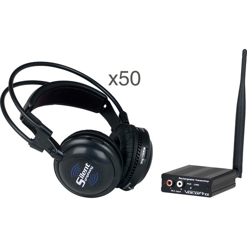 VocoPro SilentSymphony-RAVE Wireless Audio Broadcast and Headphone System