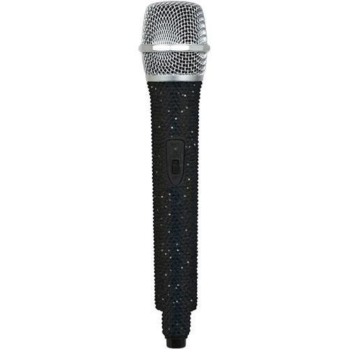 VocoPro U-DIAMOND Jet Black-Studded UHF Wireless Microphone (R: Channel 38 - 614.150 MHz)