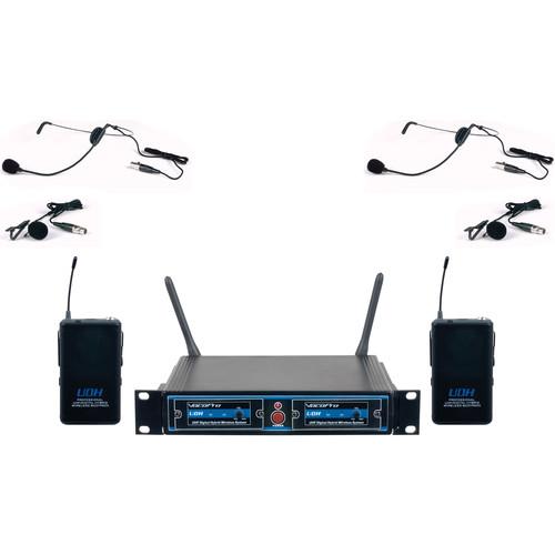 VocoPro UDH-Dual-B UHF Digital Hybrid Wireless Microphone System (B1)