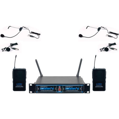 VocoPro UDH-Dual-B UHF Digital Hybrid Wireless Microphone System (B2)