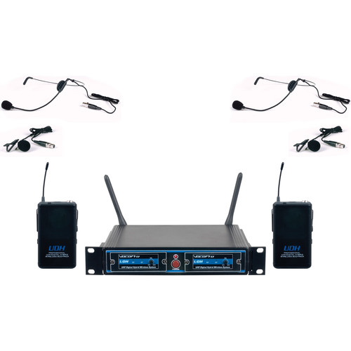 VocoPro UDH-Dual-B UHF Digital Hybrid Wireless Microphone System (B3)