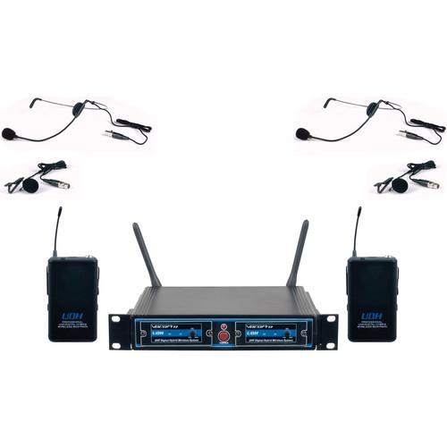 VocoPro UDH-Dual-B UHF Digital Hybrid Wireless Microphone System (B4)