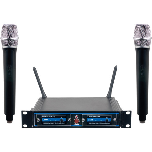VocoPro UDH-Dual-H UHF Digital Hybrid Wireless Handheld Mic System (H1)