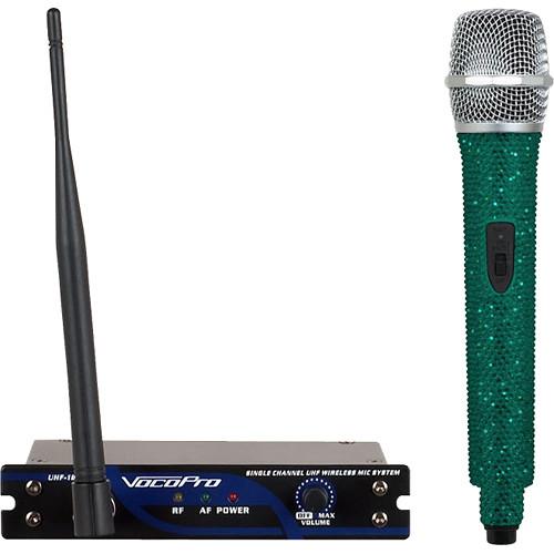 VocoPro UHF-18-C-Diamond Single-Channel Handheld Wireless Microphone System (907.5 MHz, Emerald)