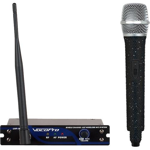 VocoPro UHF-18-I-Diamond Single-Channel Handheld Wireless Microphone System (903.1 MHz, Jet Black)