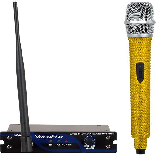 VocoPro UHF-18-J-Diamond Single-Channel Handheld Wireless Microphone System (905.8 MHz, Amber)