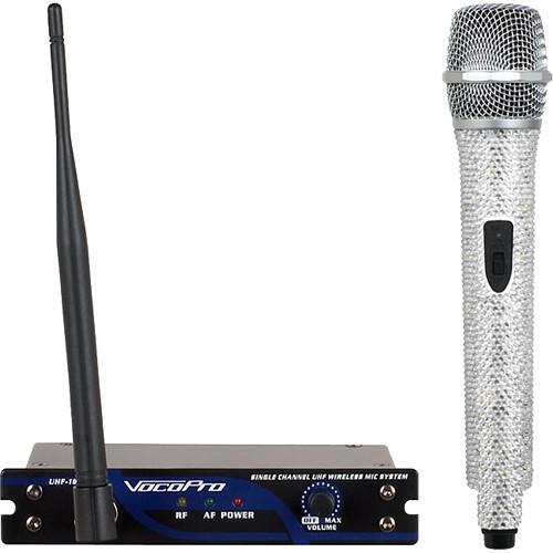 VocoPro UHF-18-M-Diamond Single-Channel Handheld Wireless Microphone System (915.0 MHz, Crystal)