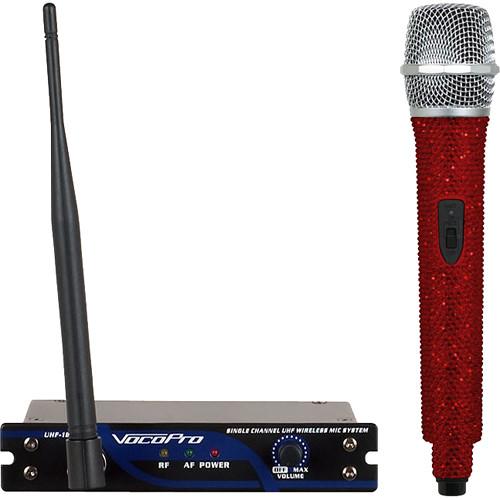 VocoPro UHF-18-O-Diamond Single-Channel Handheld Wireless Microphone System (922.8 MHz, Ruby)