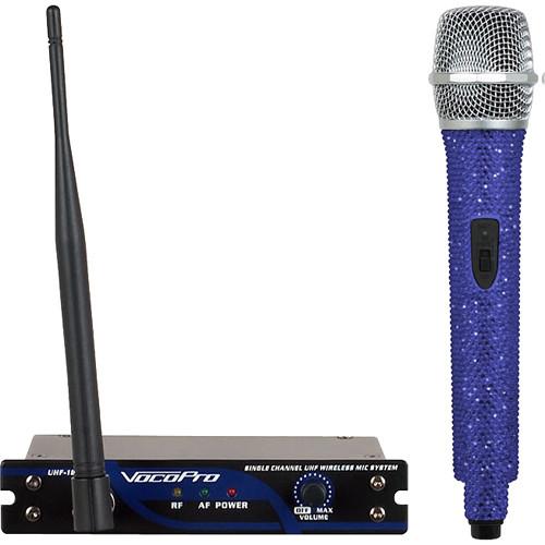 VocoPro UHF-18-P-Diamond Single-Channel Handheld Wireless Microphone System (927.2 MHz, Sapphire)