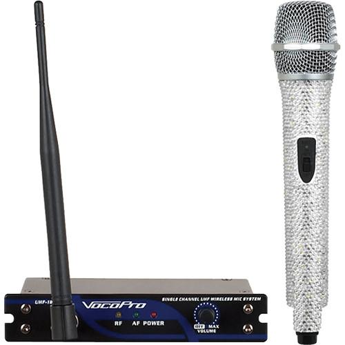 VocoPro UHF-18 Diamond Single-Channel UHF Wireless Microphone System (685.500 MHz, Crystal)
