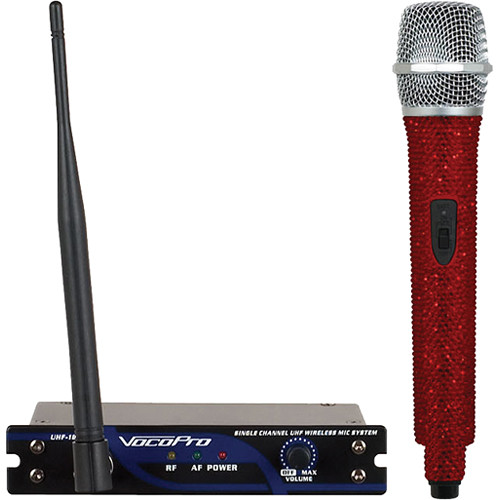 VocoPro UHF-18 Diamond Single-Channel UHF Wireless Microphone System (694.110 MHz, Ruby)