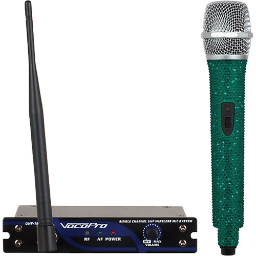 VocoPro UHF-18 Diamond Single-Channel UHF Wireless Microphone System (676.740 MHz, Emerald)