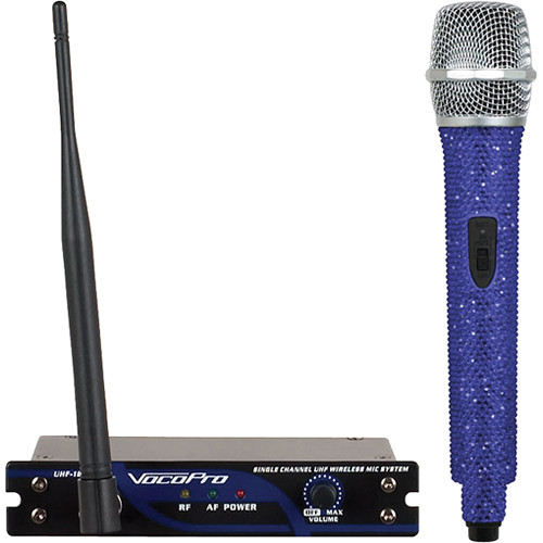 VocoPro UHF-18 Diamond Single-Channel UHF Wireless Microphone System (676.740 MHz, Sapphire)