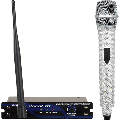 VocoPro UHF-18 Diamond Single-Channel UHF Wireless Microphone System (614.150 MHz, Crystal)
