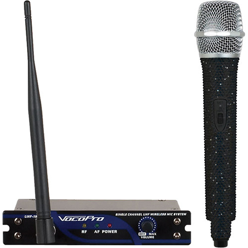 VocoPro UHF-18 Diamond Single-Channel UHF Wireless Microphone System (614.150 MHz, Jetblack)