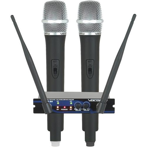 VocoPro UHF-28-9 Dual-Channel UHF Wireless Handheld Microphone System (9M: 915.0/ 9N: 918.7 MHz)