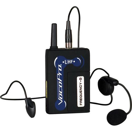 VocoPro UHF-BP1 Headset Microphone & Wireless Bodypack (N: 49, Pink)