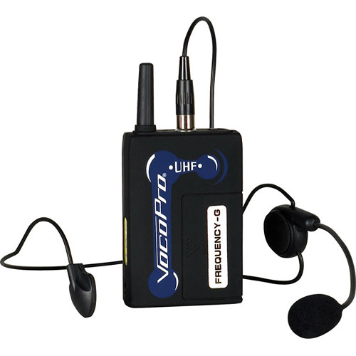VocoPro UHF-BP1 Headset Microphone & Wireless Bodypack (R: 38, Brown)