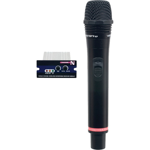 VocoPro Single UHF Module/Rechargeable Wireless Microphone (Frequency R)