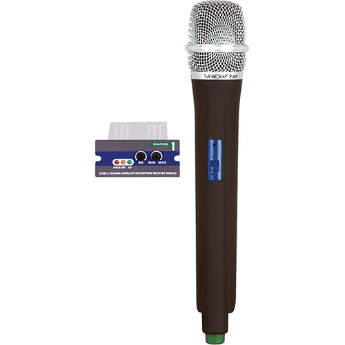 VocoPro UMH Single-Channel UHF Receiver Module & Handheld Wireless Microphone (S: 38, Light Blue)