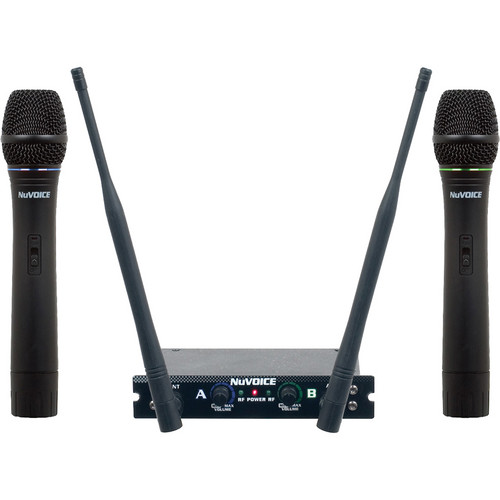 VocoPro V-280 Dual Channel Handheld VHF Wireless System (GH)