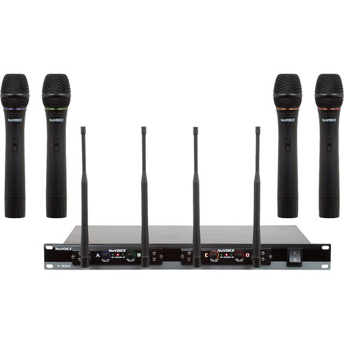 VocoPro V-580 Quad-Channel VHF Wireless System (ABCD)