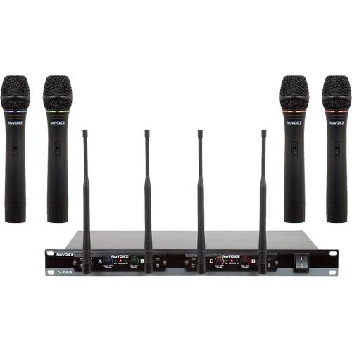 VocoPro V-580 Quad-Channel VHF Wireless System (ABCD)