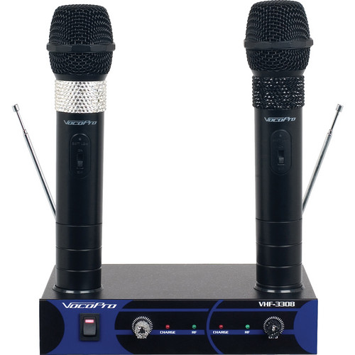 VocoPro VHF-3308-3 Dual Channel Rechargeable Wireless System