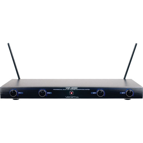 VocoPro VHF-4000 Professional Quad Wireless Microphone System