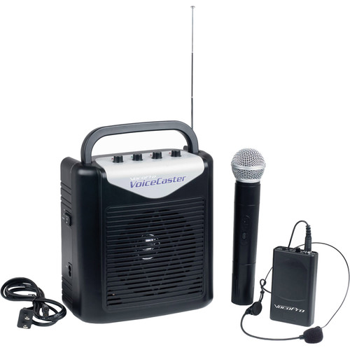 VocoPro VoiceCaster Battery Powered Portable PA System with Wireless Mic (2)
