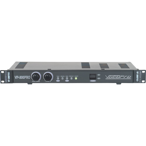 VocoPro 300W Professional Power Amplifier (1 RU)