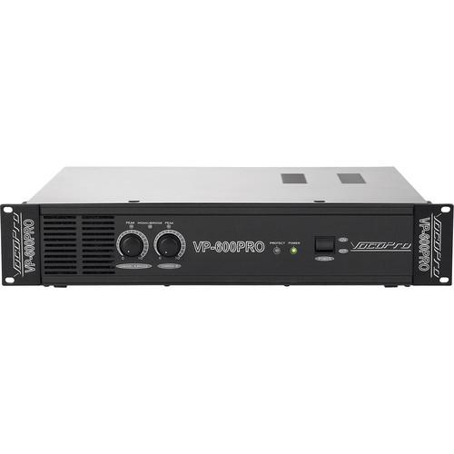 VocoPro 600W Professional Power Amplifier (2 RU)