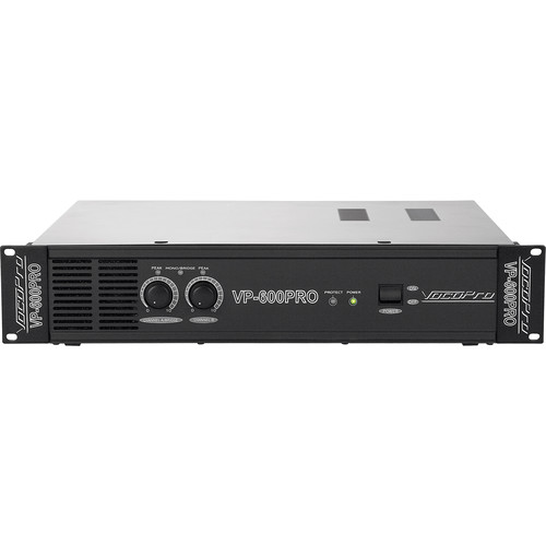 VocoPro 600W Professional Power Amplifier (2 RU)