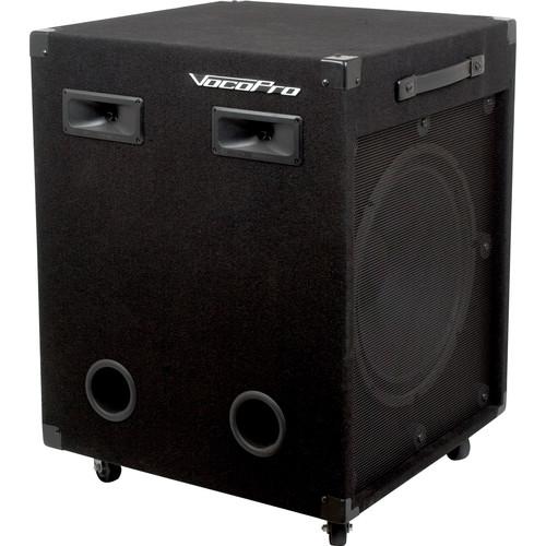 "VocoPro VX-30 II 15"" Stereo Vocal Speaker System"