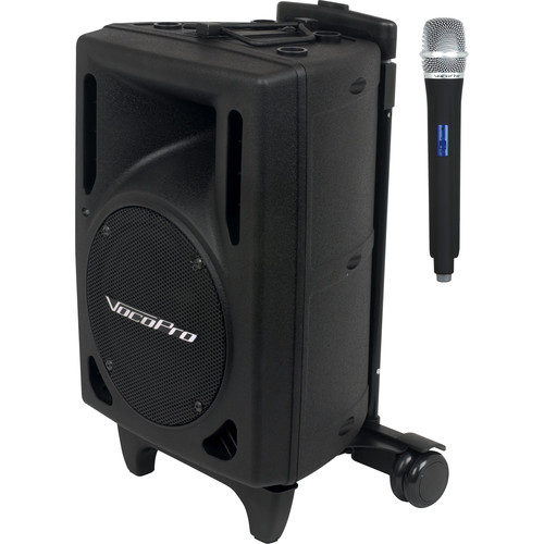VocoPro Wireless Performer Powered Vocal Speaker & UHF Wireless Handheld Microphone