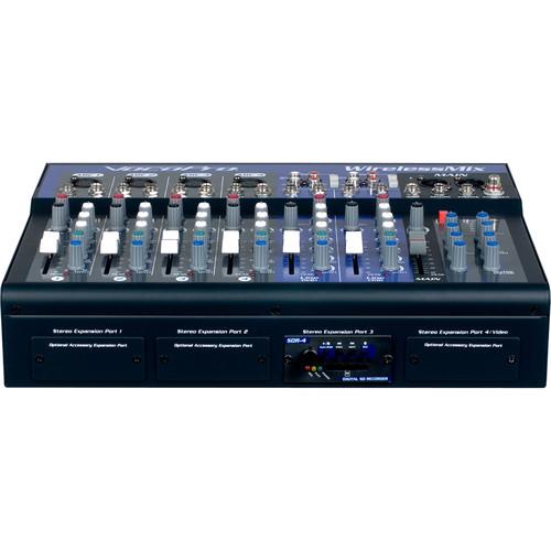 VocoPro WirelessMix-2 All-In-One Mixer w/ 2x Wireless Mics and SD Audio Recorder