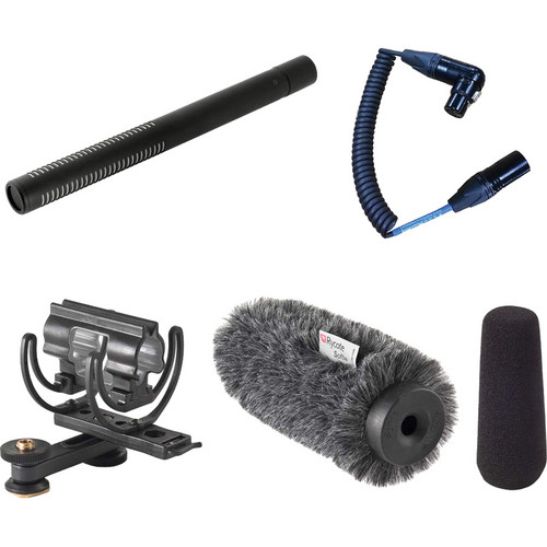Voice Technologies VT5000 Shotgun Microphone with Video Hot Shoe Shock Mount Kit